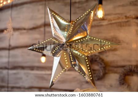 Christmas decoration.Christmas decoration background, Christmas tree and holidays ornament #1603880761