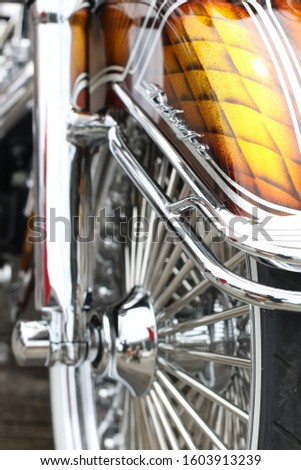 chrome motorcycle spokes custom bikes #1603913239