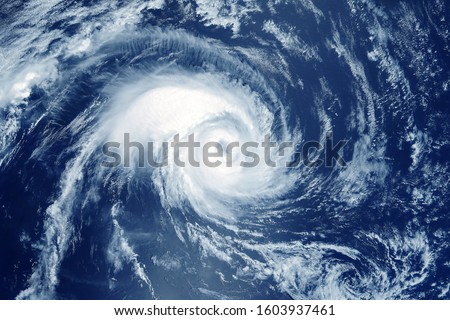 Hurricane from space. The atmospheric cyclone. Elements of this image furnished by NASA #1603937461