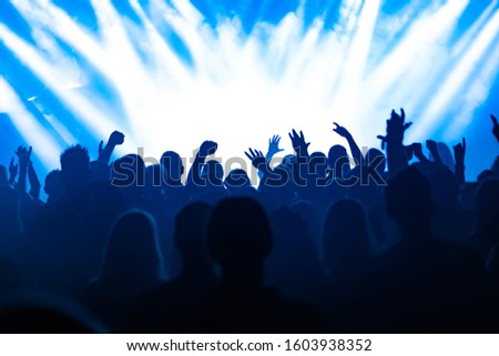 cheering people at rock concert #1603938352