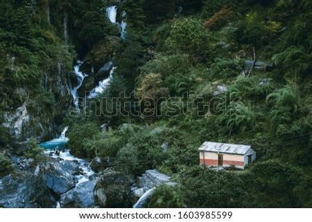 Lush Nepal Jungle Home Amongst Green #1603985599