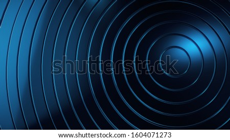 Abstract graphic background and texture, blue circles circles, layers. Science and technology concept background. #1604071273