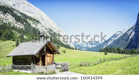 old chapel at the karwendel in austria