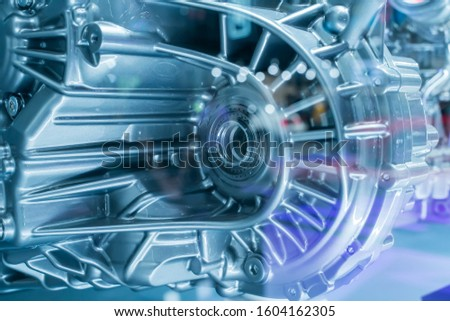Metallic background of car suspension and gear #1604162305
