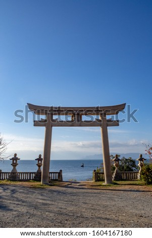 Torii built where the sea can be seen #1604167180