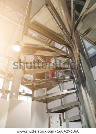 Spiral staircase of a modern office complex, spa complex #1604296360