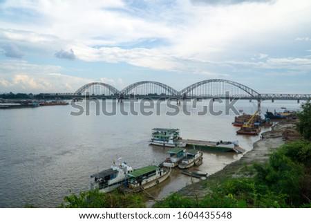 The Irrawaddy Bridge, Ayeyarwady Bridge, Yadanabon Bridge, Sagaing Bridge. #1604435548