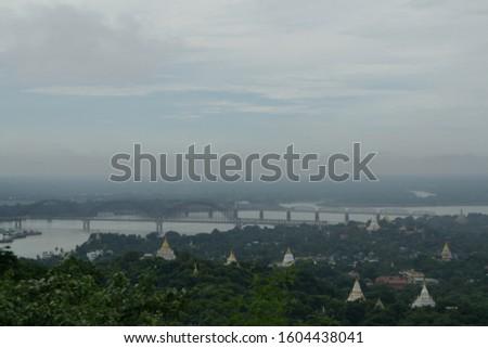 The Irrawaddy Bridge, Ayeyarwady Bridge, Yadanabon Bridge, Sagaing Bridge. Sagaing Region #1604438041