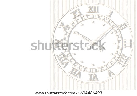 clock mechanism sketch 3d illustration #1604466493