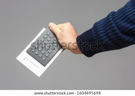 Calculating machine to make financial calculations, mathematical calculations; it is used by accountants, students, scientists and normal people to reach the end of the month #1604495698