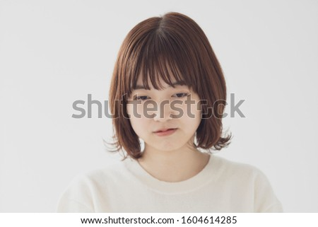 young woman has bad feeling #1604614285