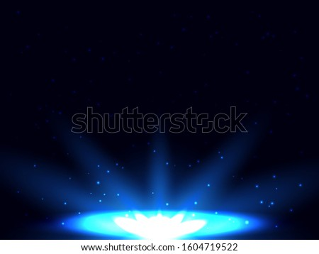 Shiny background on a sky at night. Vector stock illustration for poster #1604719522