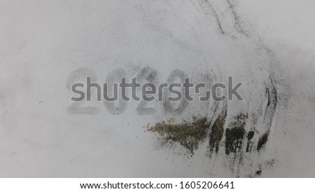White Dusty Distressed Background, Texture 2020 #1605206641
