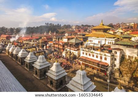 Pashupatinath Temple by Bagmati river, Kathmandu, Nepal #1605334645