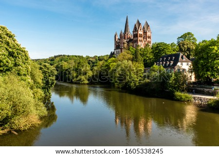 historic cathedral in limburg lahn germany #1605338245