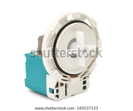 motor pump isolated on a white background #160537133