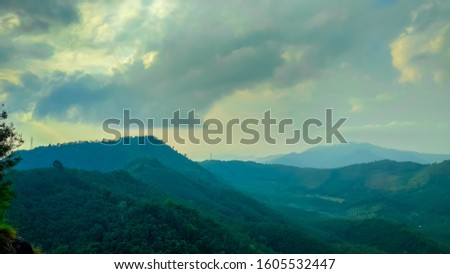 Green mountains and the smell of nature in the morning #1605532447