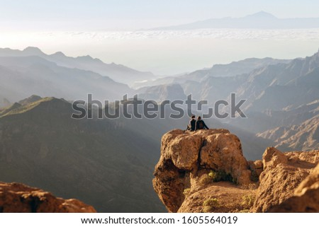 Enjoying the amazing view in Gran Canaria, Canary islands #1605564019