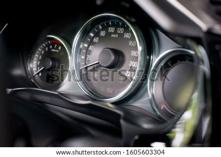 Car dashboard modern automobile control. #1605603304