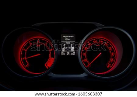 Car dashboard modern automobile control. #1605603307