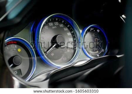 Car dashboard modern automobile control. #1605603310