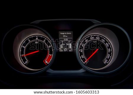 Car dashboard modern automobile control. #1605603313