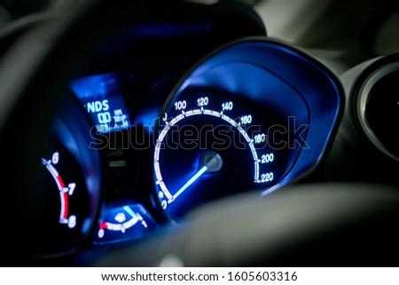 Car dashboard modern automobile control. #1605603316