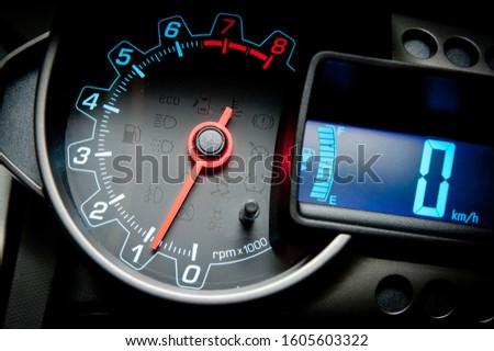 Car dashboard modern automobile control. #1605603322