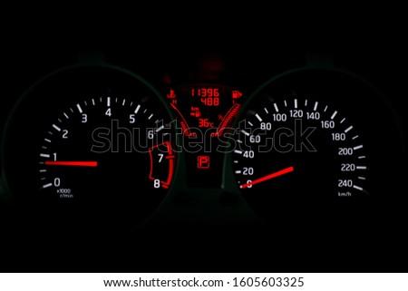 Car dashboard modern automobile control. #1605603325