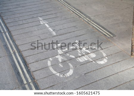 Bicycle Lane in Madrid, Spain #1605621475