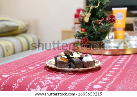party platter with variations of small cakes with different stuffing #1605659215