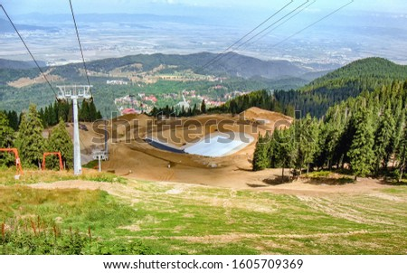 Construction accumulation lake for artificial snow installation #1605709369