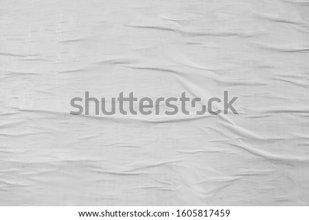 Creative urban street appeal paper texture, white clear empty poster  #1605817459