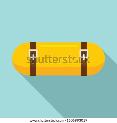 Sleeping bag roll icon. Flat illustration of sleeping bag roll vector icon for web design #1605993019