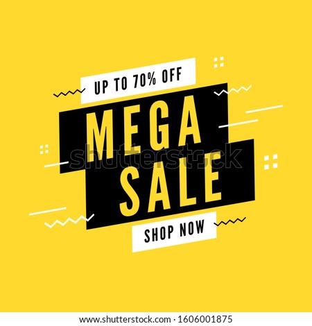 Mega sale special offer. End of season special offer banner. #1606001875