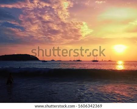 ocean sea sunset travel vacation vacation vacation phuket thailand #1606342369