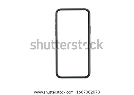 New version of slim smartphone  with blank white screen #1607082073