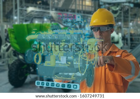 Engineering use augmented mixed virtual reality integrate artificial intelligence combine deep, machine learning, digital twin, 5G, industry 4.0 technology to improve management efficiency quality  #1607249731