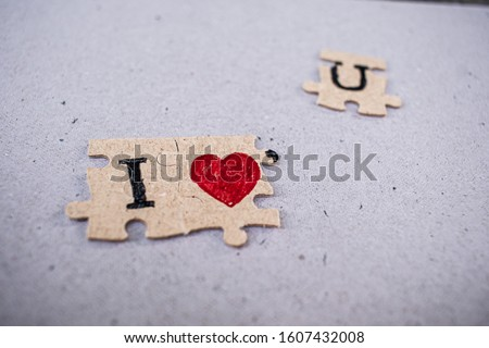 Meaning  jigsaw puzzles i love you and paper backgrounds