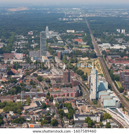 Arial Photos of the City Of Tilburg in The Netherlands during the funfair #1607589460