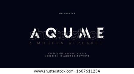 Abstract digital modern alphabet fonts. Typography technology electronic dance music future creative font. vector illustration Royalty-Free Stock Photo #1607611234