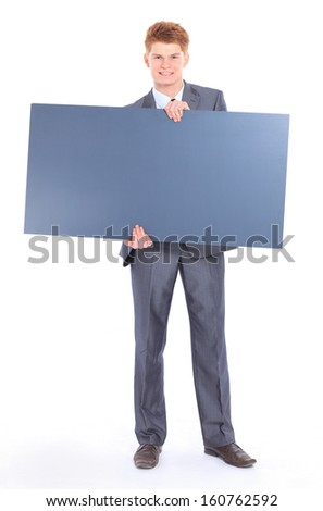 The young handsome businessman isolated on a white background. #160762592