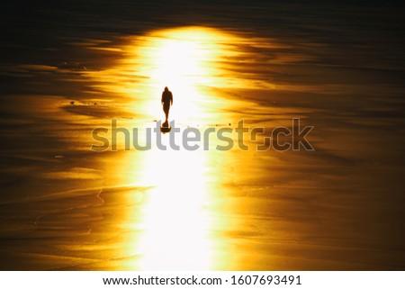 Walk alone on the ice under the sun #1607693491