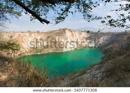 View landscape of grand canyon in Thailand on daytime. Grand canyon in Chonburi at thailand. Grand canyon of thailand. #1607771308