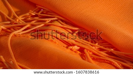 background, pattern, texture, Orange silk fabric has a brilliant luster. It folds into soft folds when draping and is the most versatile fabric. Be creative with beautiful accents of your design. #1607838616