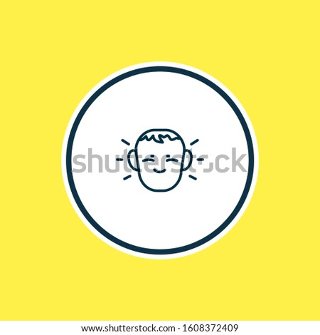 Vector illustration of shy icon line. Beautiful emotions element also can be used as cheerful icon element. #1608372409