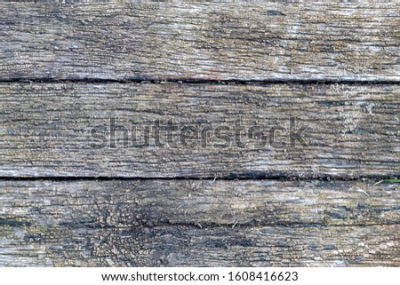 Old Weathered Grayish Wooden Planks #1608416623