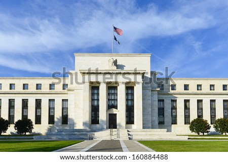 Federal Reserve Building in Washington DC, United States Royalty-Free Stock Photo #160884488