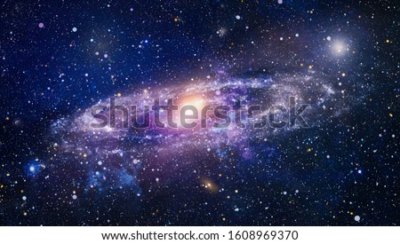 Planets, stars and galaxies in outer space showing the beauty of space exploration. Beautiful nebula, stars and galaxies. Elements of this image furnished by NASA. Royalty-Free Stock Photo #1608969370