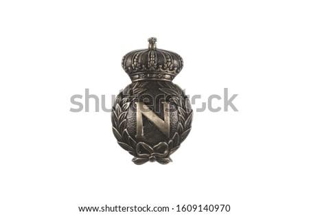 medieval golden royal heraldic emblem, shield #1609140970
